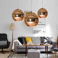Glaskugel Anhänger Lampe Moderne Kronleuchter Spiegel Ball Hängen Lampe leuchte indoor Hause küche leuchte deco beleuchtung