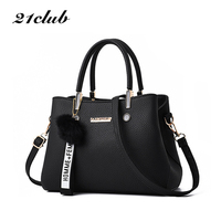 21club Brand New Designer PU Leather Women Handbag Female Shoulder Bag Girls Messenger bag Casual Women Shopping Work Handbag