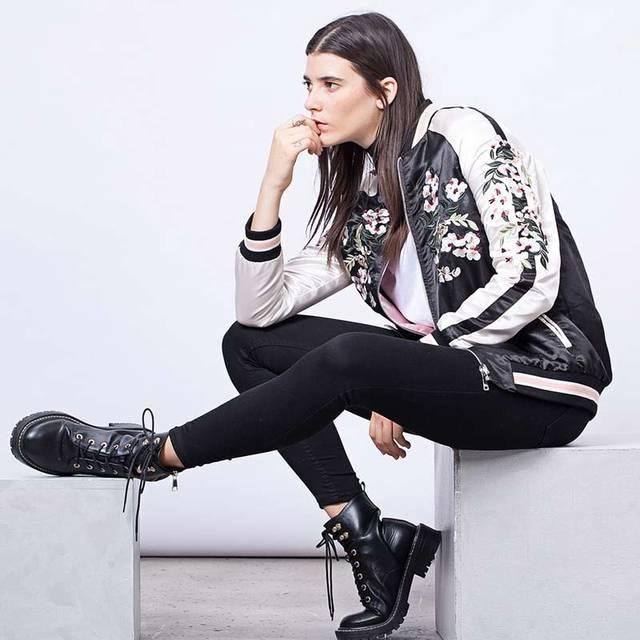 Mulheres jaqueta floral bordado bombardeiro jaqueta de cetim preto vintage inverno marca de moda primavera casaco chaquetas mulheres clothing