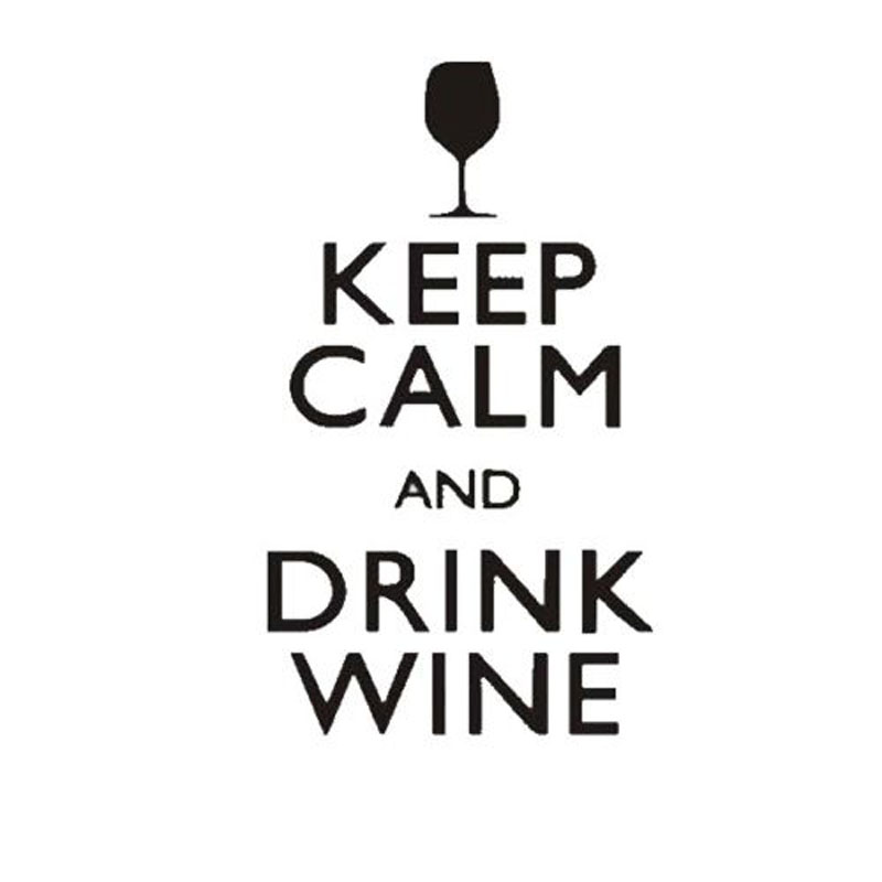8.6X15CM KEEP CALM AND DRINK WINE Funny Vinyl Decal Car Sticker Car-styling S8-0624