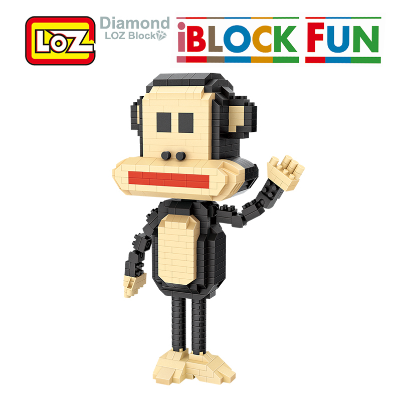 LOZ Toy Diamond Action-Figure-Toy Table-Decoration Monkey-Animals for Children Gift Assembly-Blocks