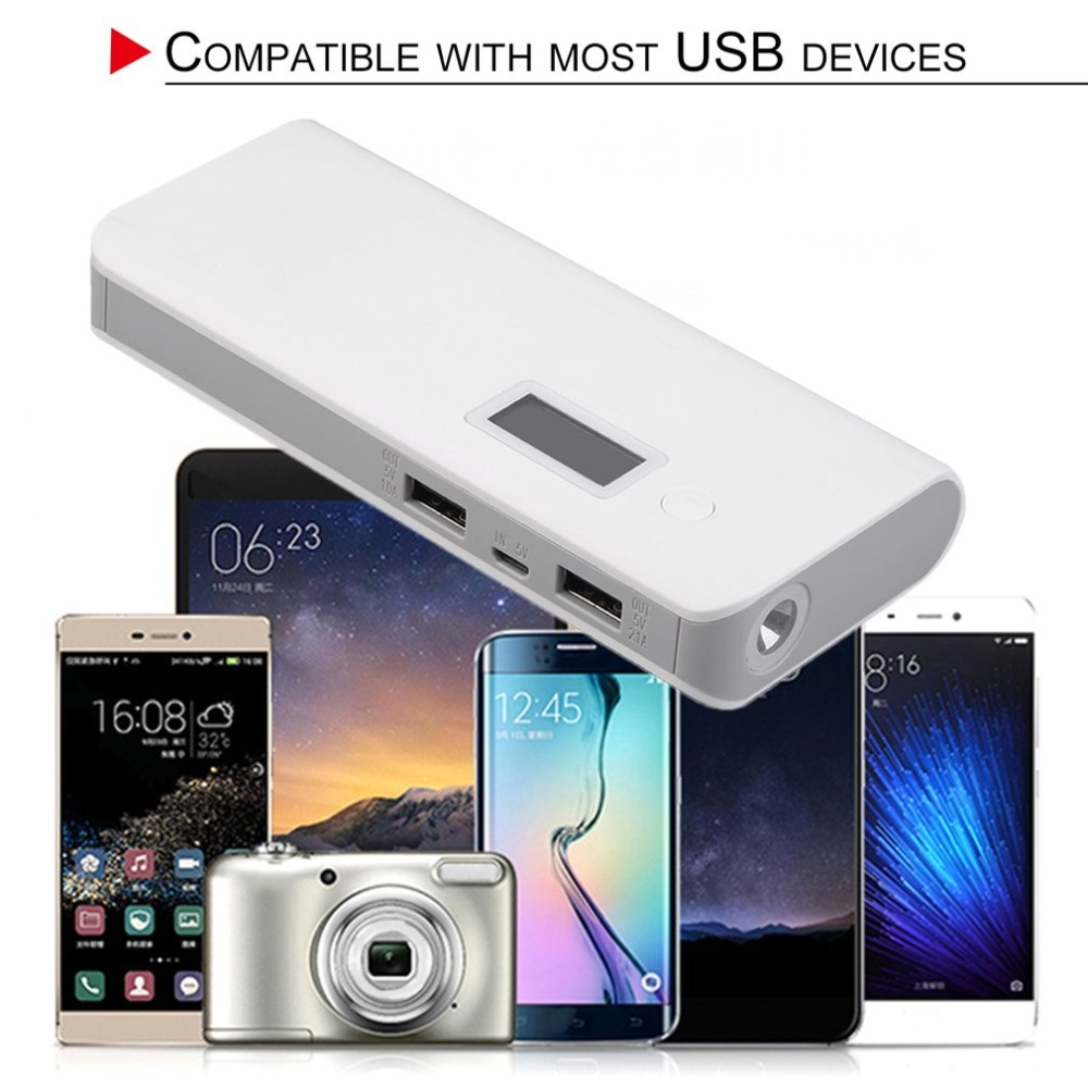 Portable 50000mAh Power Bank Dual USB Digital Screen Display Mobile Phone External Battery Power Supply Charger For Smart Phone