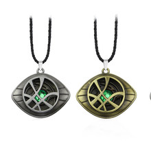 styles Doctor Strange Necklace Crystal Eye of Agamotto Pendant Fashion Necklaces Keychain(China)