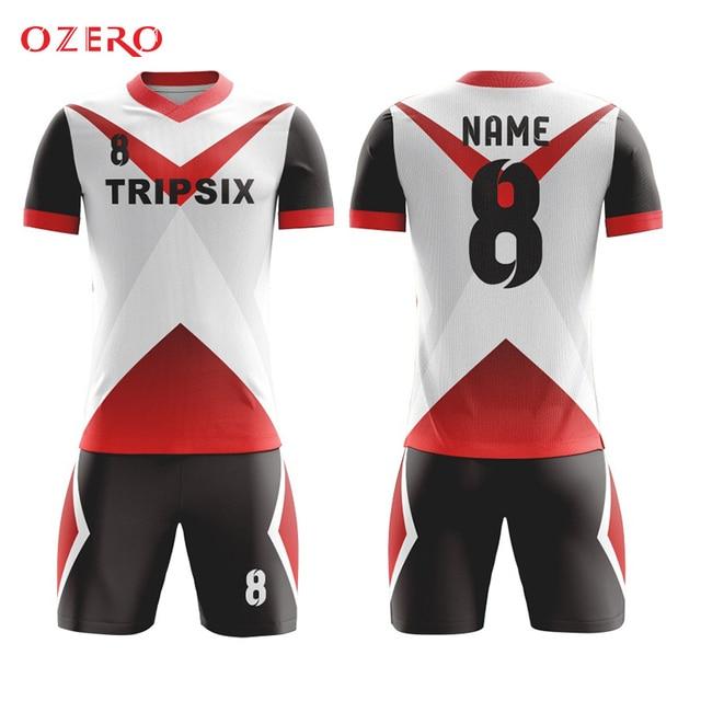 Negro y rojo fútbol jersey, amarillo y rojo fútbol jersey, azul y ...