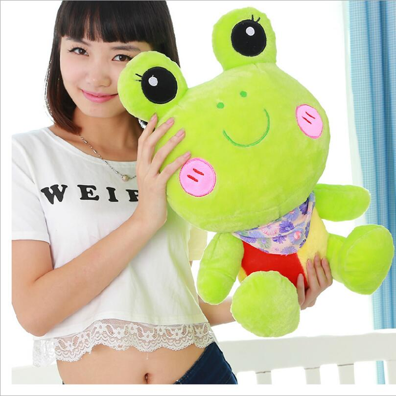 มาใหม่ขนาดใหญ่ถั่วเขียวกบของเล่นตุ๊กตาสร้างสรรค์บิ๊กอายกบหมอนยัดไส้สัตว์ของขวัญวันเกิด