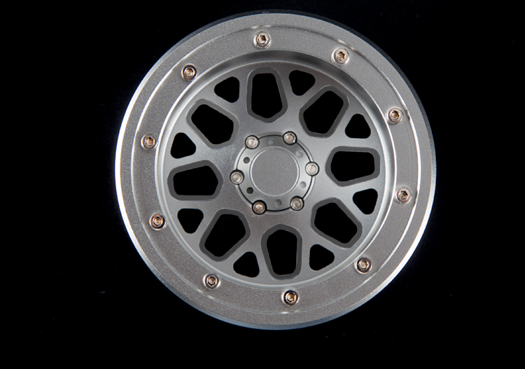 4pcs D1RC 2.2 Inch Sunflower Beadlock Wheel Rim For 1:10 1:8 Traxxas TRX-4 TRX4 RC4WD D90 D110 TF2 Axial SCX10 90046
