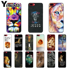 Yinuoda Jesus lion text Black TPU Soft Silicone Phone Cover for Apple iPhone 8 7 6 6S Plus X XS MAX 5 5S SE XR Mobile Cover yinuoda animals dogs dachshund soft tpu phone case for apple iphone 8 7 6 6s plus x xs max 5 5s se xr mobile cover