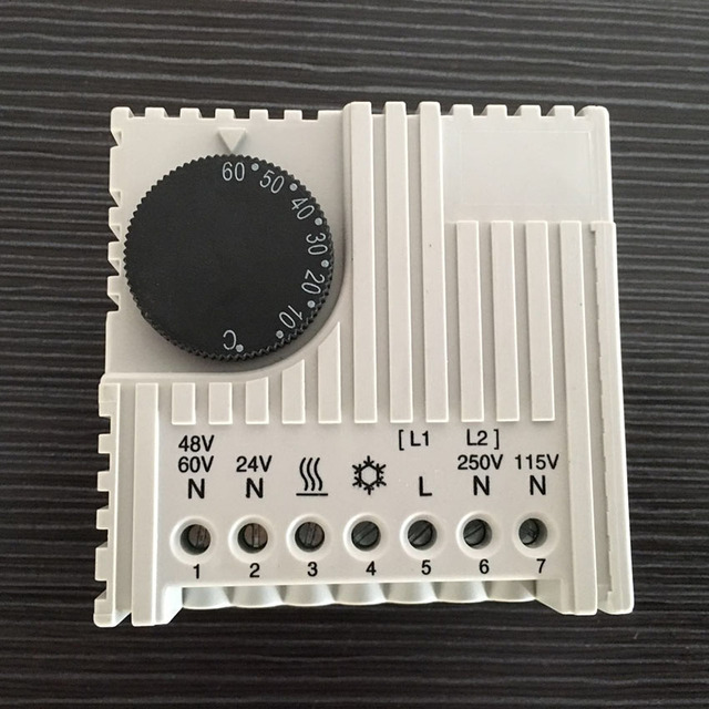 30w Mechanical Programmable Room Thermostat Wide Voltage Range Electronic Control For Cabinet Enclosure Sk3110