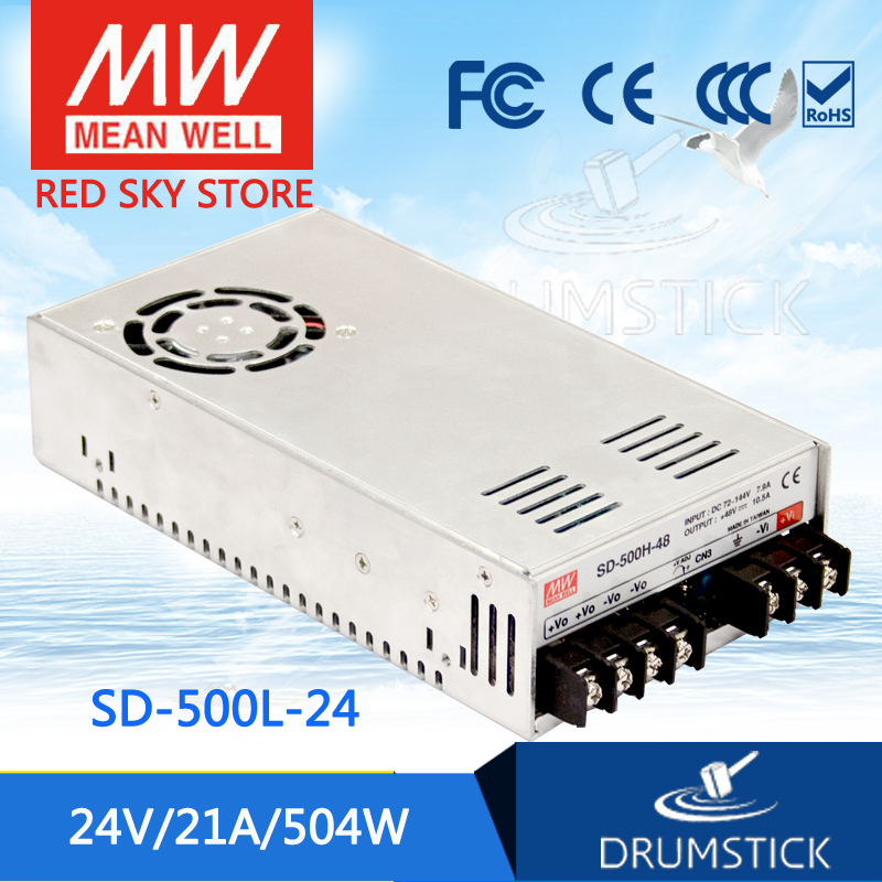 цена на Selling Hot MEAN WELL SD-500L-24 24V 21A meanwell SD-500 24V 504W Single Output DC-DC Converter