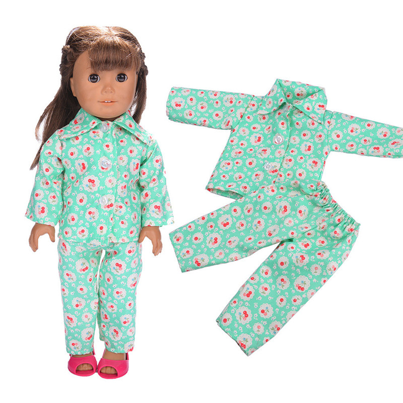 American Girl Dolls Pajamas Doll accessories Princess Doll Clothes Fit 18 inches Clothes Baby Birthday Christmas Gift ZK12