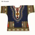 Señor Hunkle Dashiki Vestido Más El Tamaño XXXL 100% Algodón Africano Dashiki Impreso Tradicional Ropa para Hombres de Las Mujeres envío rápido