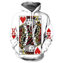 Herz Der Karten Männer Hoodie 3D Grafik Drucken Playing Poker König Sweatshirts Hip Hop Stil Mit Kapuze Trainingsanzug Mode Pullover