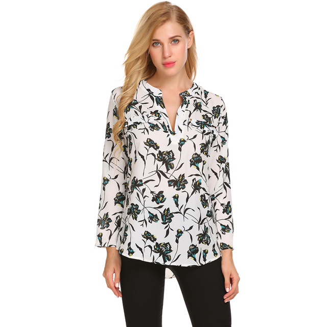 c7184b6a2897 Home > Meaneor Vintage Blouse Women Roll-Up Cuffed Sleeve Shirts Floral  Print Asymmetrical Blouses Casual V Neck Long Sleeve Blusas. Previous. Next