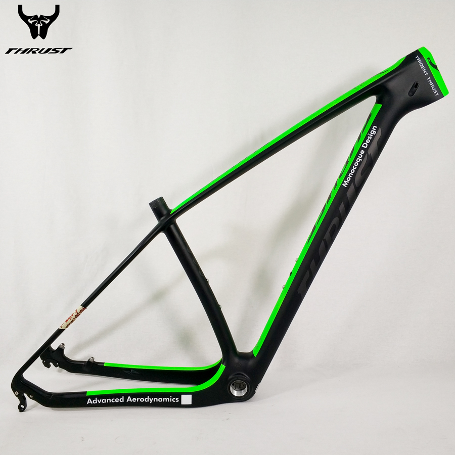 THRUST mtb Carbon Frame 29er Mountain Bike 15 17 19 inch Carbon Bike Frame 29 Bicycle Frame Red Yellow Green Blue White Black mtb bike folding frame 26 aluminium folding mountain 17 inch bike frame bike suspension frame bicycle frame