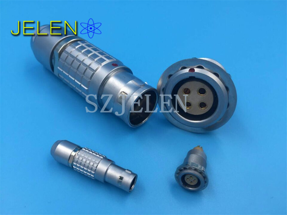 LEMO 4B connector 4 pin, FGG.4B.304.CLAD/EGG.4B.304,Male female 4 pin connector, precision equipment power connector plug socket connector 1600236 4 connector