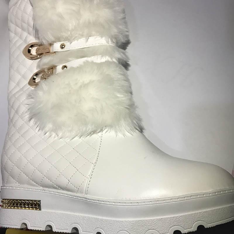 Bottes Fourrure Chaud De Faux Femmes Y0767093f Chaussures D'hiver Plate Neige Femme Cheville Noir blanc Des Automne forme Mode Botas qpwX5E
