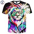 [Mikeal] camisa clássica de T Dos Homens/mulheres Hiphop camiseta de manga curta 3d engraçado Óculos de impressão Rei Leão Camiseta T-shirt Tops T31
