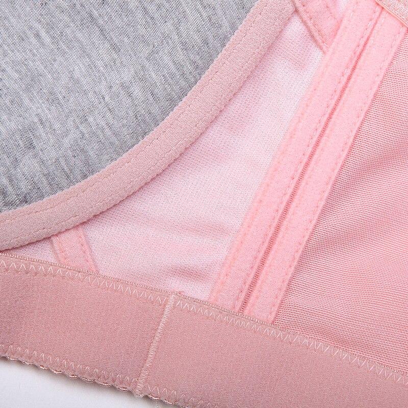 MengShan Underwear women Fat mm agglomeration adjustment type big size bra Wireless Lace Wide shoulder strap plus size bra
