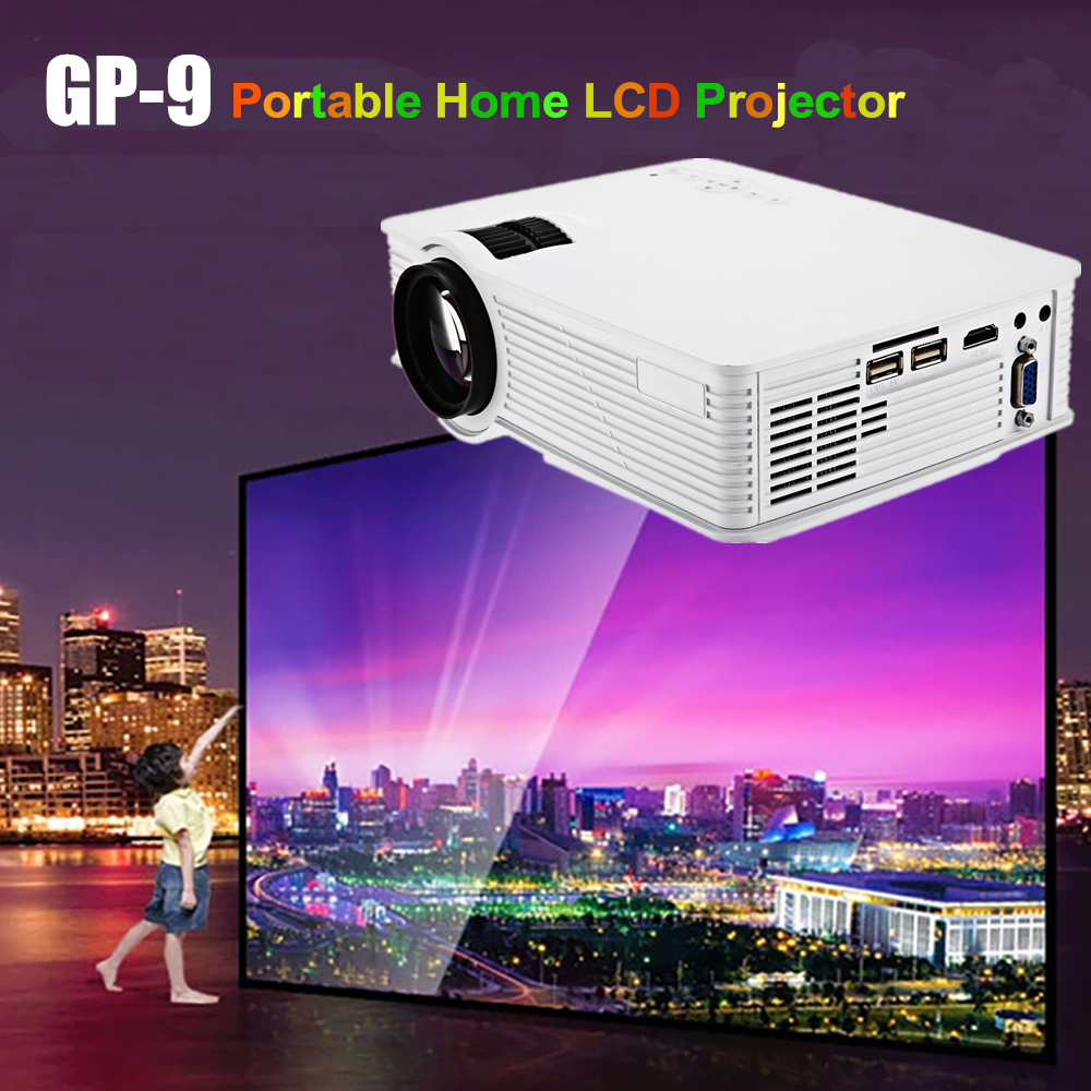 GP9 GP-9 Portable Mini LCD Projector 2000 Lumens 1920 x 1080 Home Theater Cinema Projetor Multimedia HD HDMI Proyector PK GP100 home theater cinema 1000lumens 1080p hd hdmi usb video digital portable pico lcd led mini projector proyector beamer projetor page 9