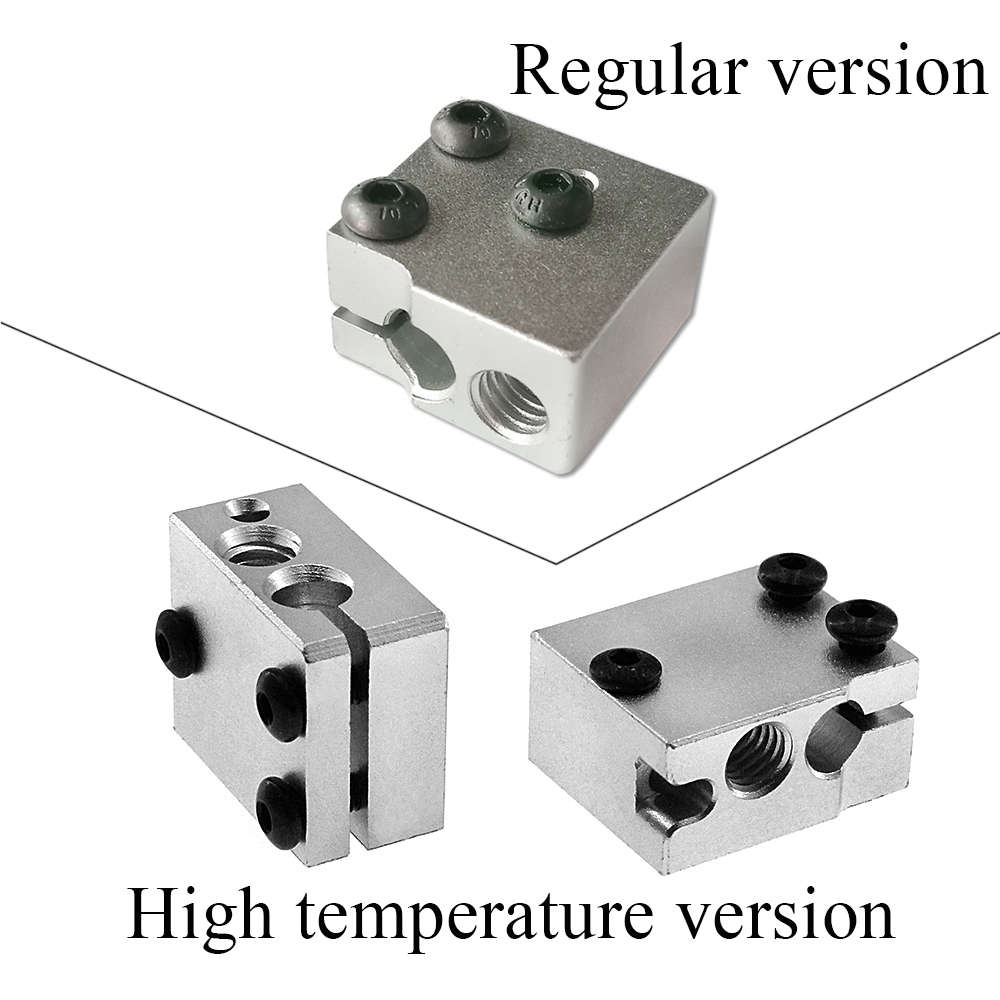 5pcs Lower price 3D printer accessories 3D Volcano hot end of extrusion heading aluminum block
