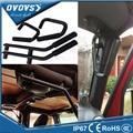 1 Set Black Rear Roll Bar Armrests Grab Handles Fit 4 Door Front Grab Handles for Wrangler 2007-2015