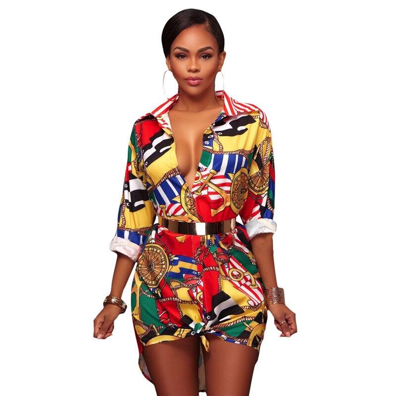 AKYZO 2017 Autumn Print Long Sleeve Blouse Women Casual Turn Down Collar Button Up Fashion Ladies Long Shirts Camisa Feminina