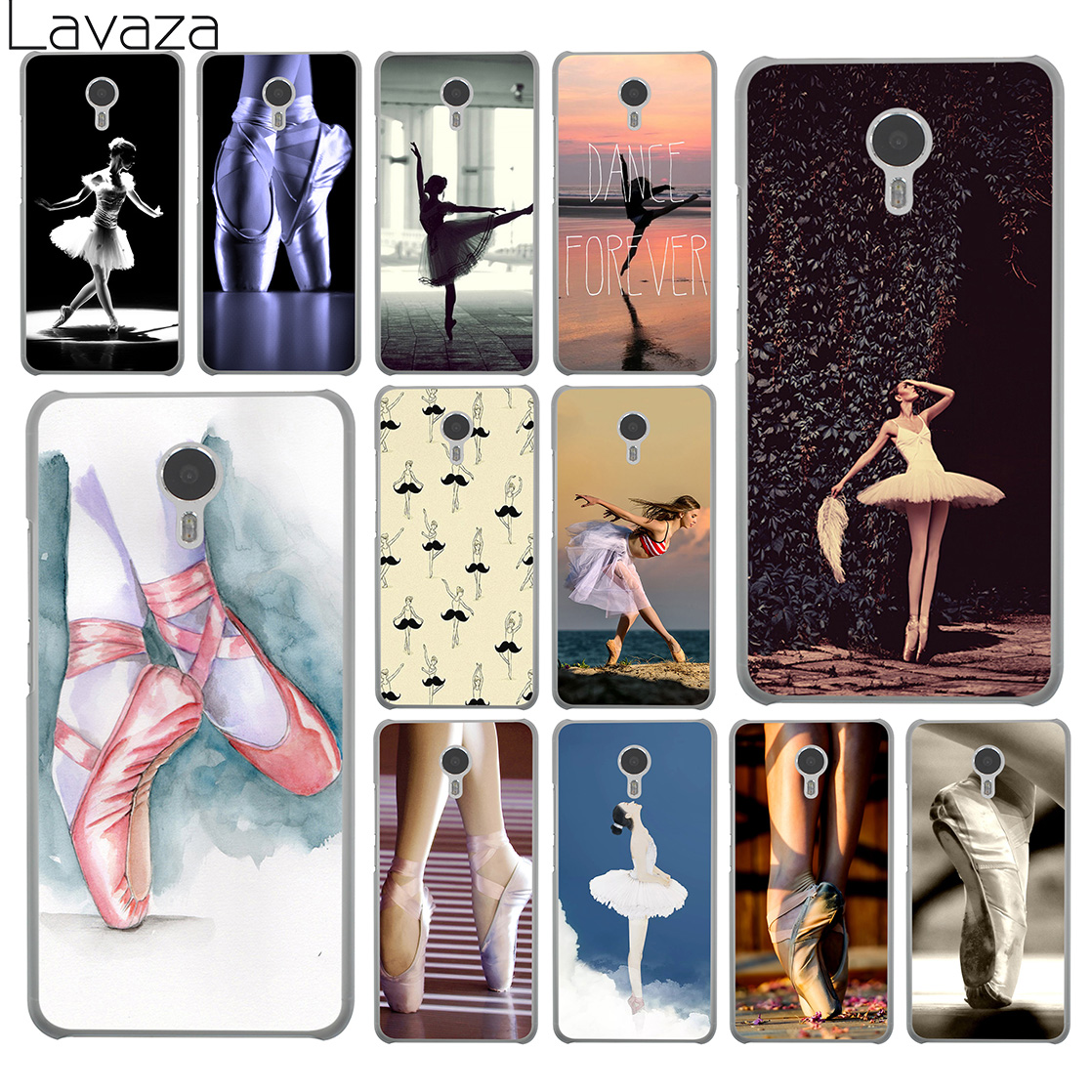 Lavaza Dancing Girl Dance Ballet sneaker Pointe Shoes Hard Case for Meizu M6 M5 M5C M5S M3 M3S M2 Mini Note U10 U20 Pro 7 Plus 6