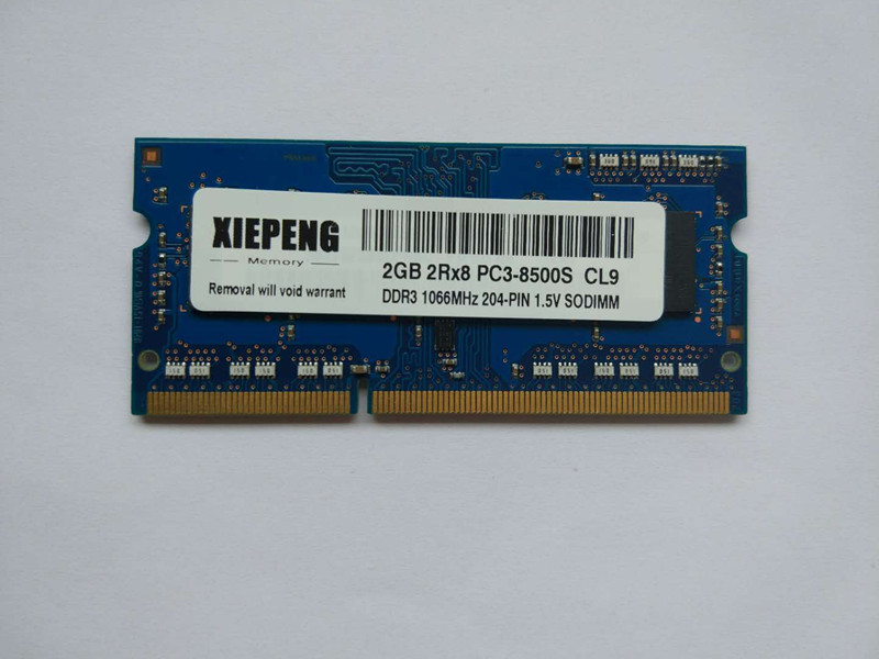 Notebook Memory <font><b>4GB</b></font> 2Rx8 PC3-8500S SODIMM <font><b>RAM</b></font> DDR3 8GB 1066 MHz 2GB pc3 8500 for <font><b>HP</b></font> TouchSmart 610z 610xt 610t Laptop image