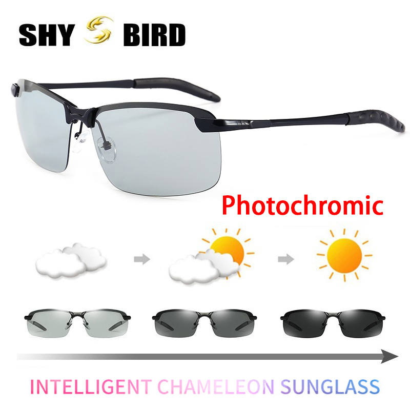 2018 Photochromic Sunglasses Chameleon Hd Polarized Men Women Glasse All Day Change Color For Snow Light Top Quality Shades Refreshing And Beneficial To The Eyes