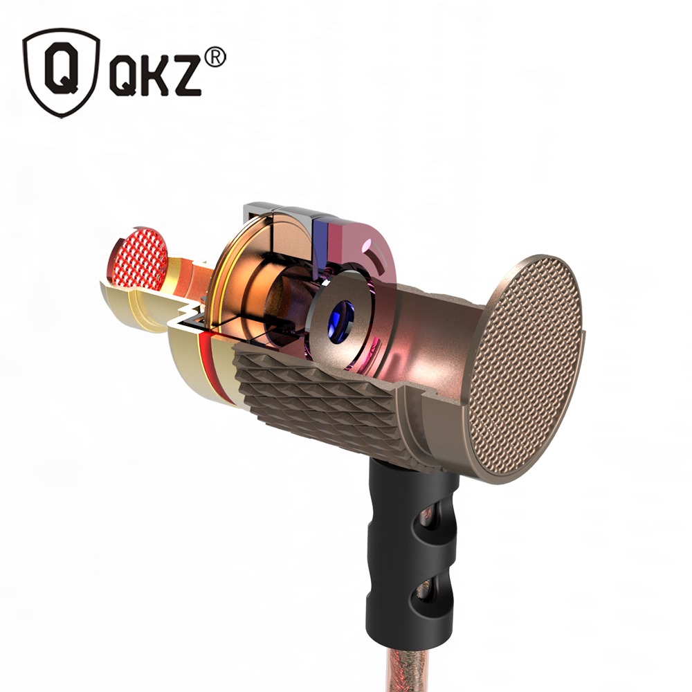 QKZ ED2 Earphones and Headset For the Phone DJ MP3 Headset Wire auriculares Headset Music Earphone Metal Earphone fone de ouvido