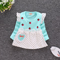 2016 новый девочка платье осень с длинными рукавами платье платье принцессы хлопка одежда для новорожденных детская одежда Бесплатно доставка