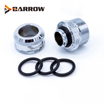 BARROW Hand Compression OD12mm/OD14mm/OD16mm Hard Tube Fitting Water Cooling Metal Connector Fitting G1/4'' Thread TEPG Acrylic 6pcs lot g1 4 thread barbed fitting connector for computer case water cooling barb fitting