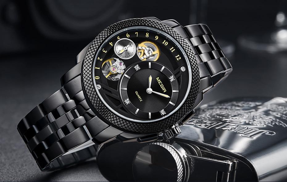 HTB1zW3IXZfrK1RjSszcq6xGGFXaN MEGIR Luxury Quartz Watches Stainless Steel Military Wrist Watch