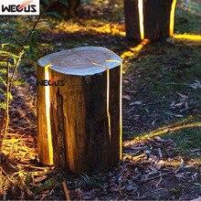 Patented product. Stump lights, wooden stool imitation wood lawn light
