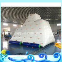 Inflatable Floating Iceberg for Inflatable Pool Toys & Inflatable Floating Island adults water climbing mountain
