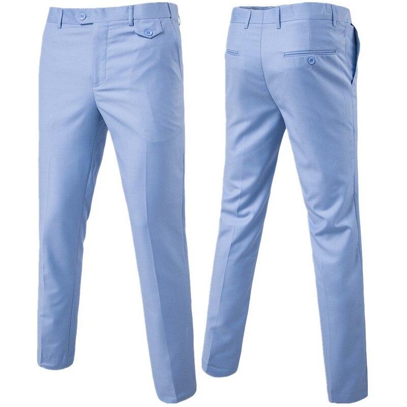 Quality Men Suit Pants Solid Color Casual Business Office Trousers Slim Men's Groom Dress Wedding Pants Men Large Size 6XL Pants