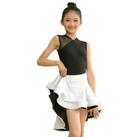 Classic Latin Dance Costume Girls Milk Fiber Ballroom Tango Cha Cha Samba Salsa Rumba Performance Wear Practice Dresses DC2390