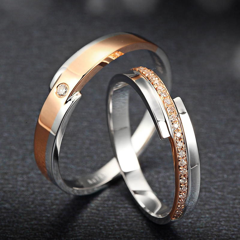 natural diamond 18k rings wedding couple set genuine 011ctpair sih diamond - Stephen Curry Wedding Ring