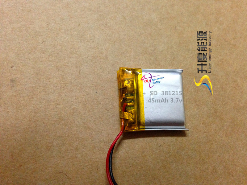 Wonderful rechargeable liquid lithium polymer granules 381215 li Tablet polymer battery lipo 45mAh 3.7v good quality with OEM se
