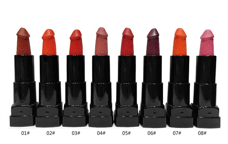6 Colors Penis Shape Lipstick Mushroom Lipstick batom Moisture - Makeup - Photo 5