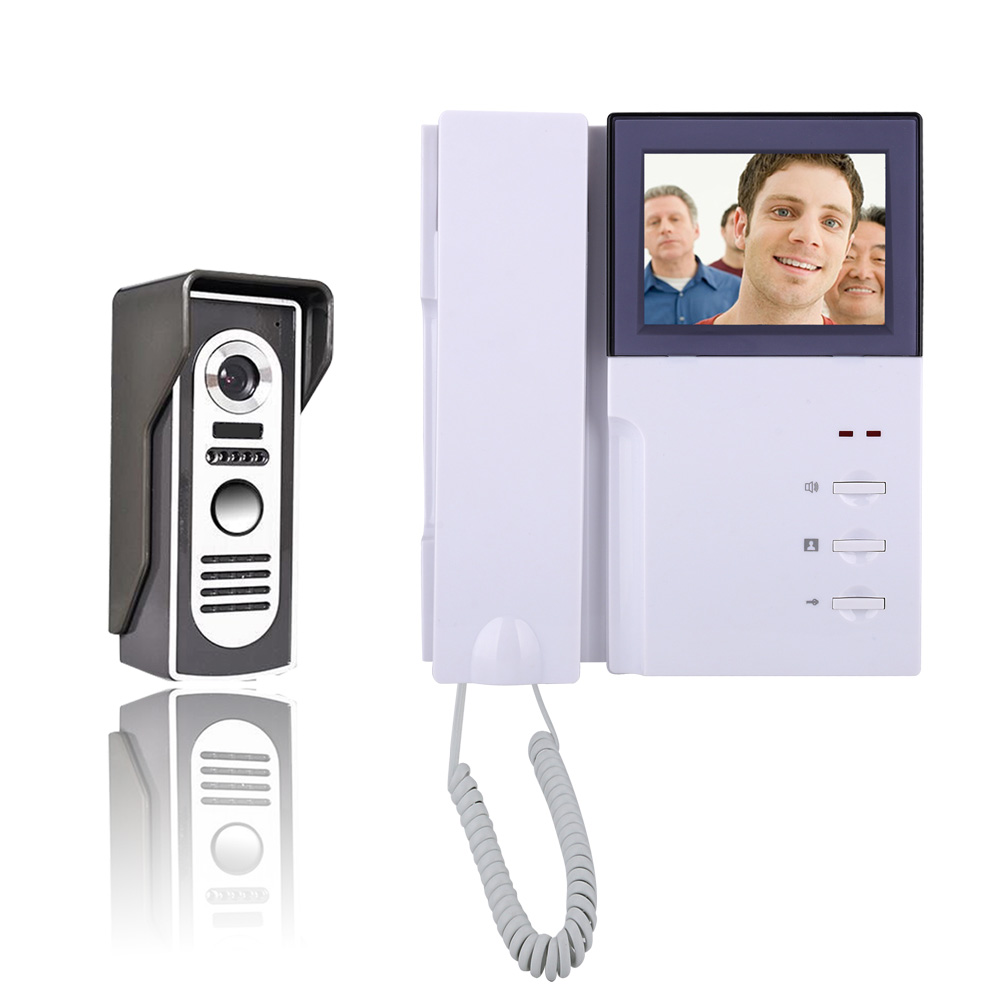 4inch Wired Color Video Door Phone Doorbell Intercom Entry System With Phone Monitor+ Metal IR COMS Outdoor Camera Hot Sale original 7 inch touch screen dahua dh vth1550ch color monitor with to2000a outdoor ip metal villa outdoor video intercom system