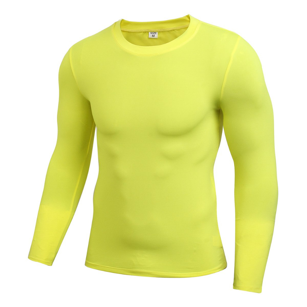 Autumn Spring Men Long Sleeve Sports Compression Basketball Running Tops Tight T Shirts Fast Drying Fitness GYM Base Layer Tops