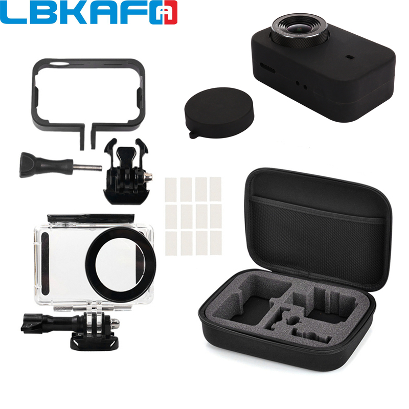 LBKAFA Mijia Accessories 4K Mini Camera Waterproof Housing Carry Case Frame Cover Silicone Shell Storage Bag For Xiaomi Mijia