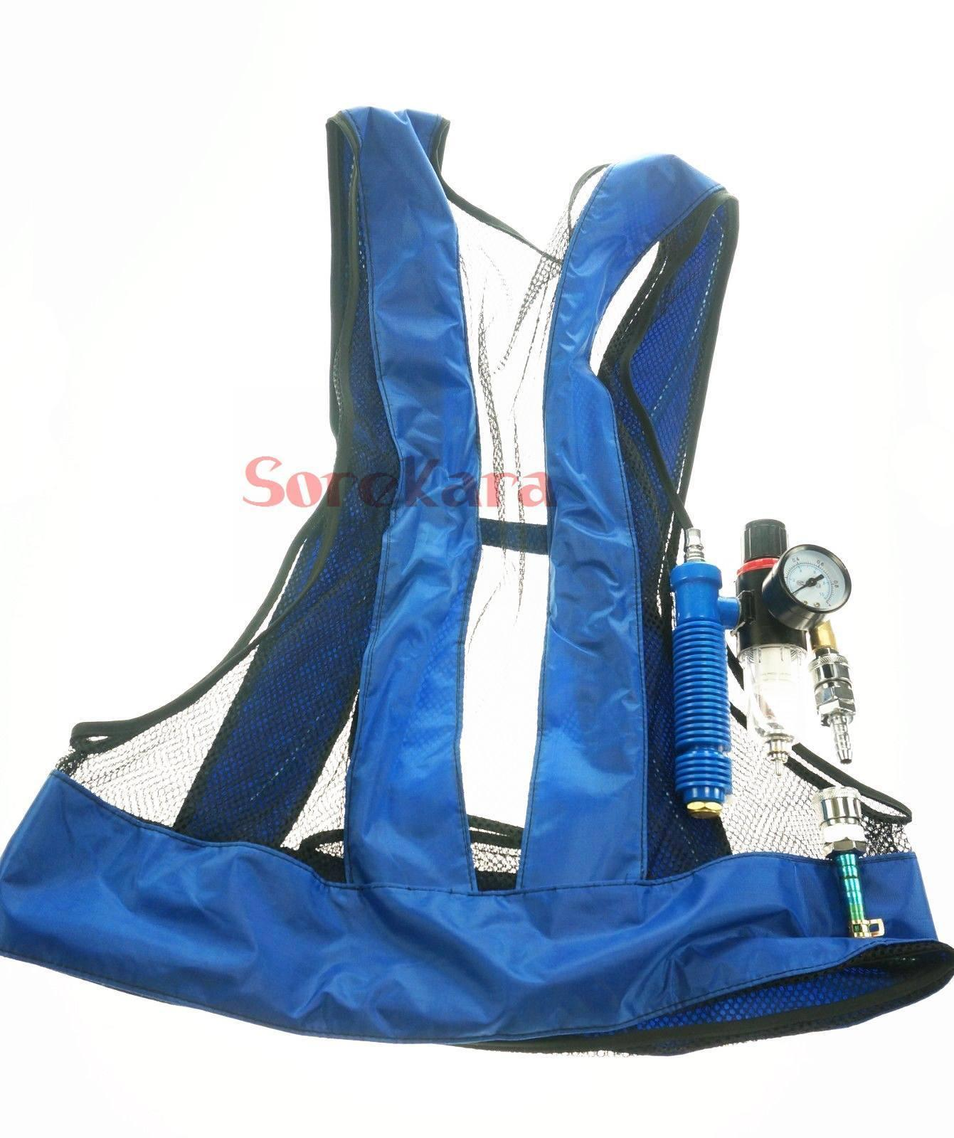 Vortex Tube Air Conditioner Waistcoat Compressed Cooling Vest Welding Steel vortex cold and hot air dry cooling gun with flexible tube aluminium alloy 145mm lxm