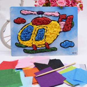 Дети Diy вертолет ремесла игрушки для детей войлочная бумага детский сад ремесленный материал для девочек и мальчиков Забавный подарок иску...