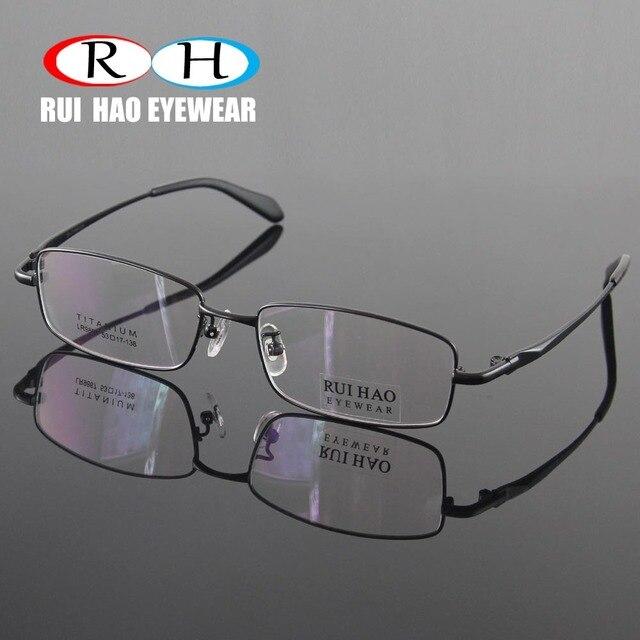 1505b34290b8f Homens Óculos de Armação de Titânio Puro Óculos Sem Aro completo Armações  de Óculos Óptica do