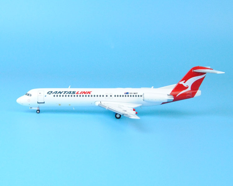Fine GeminiJets 1: 200 G2QFA566 Australian Airways Fokker F-100 VH-NHY Collection model Holiday gifts fine special offer jc wings 1 200 xx2457 portuguese air b737 300 algarve alloy aircraft model collection model holiday gifts
