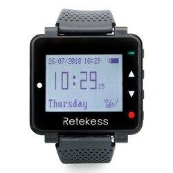 RETEKESS T128 часы приемник 433,92 мГц черный для Беспроводной вызова Системы вызова официанта пейджер ресторан оборудования клиента Услуги