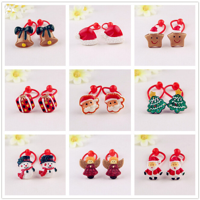 2015 Baby girl's styling tool Christmas gift elastic hiar bands headwear  hair accessories for women kids make they cute lovely halloween party zombie skull skeleton hand bone claw hairpin punk hair clip for women girl hair accessories headwear 1 pcs