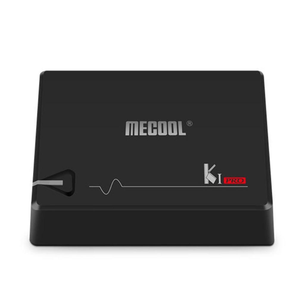 MECOOL KI Pro Android 7.1 DVB S2+DVB T2/C TV Box Amlogic S905D Quad core DDR4 2GB 16GB 2.4G/5G WiFi H.265 HD UHD 4K Media Player hd h 265 hevc avc 1u 4 channels hdmi dvb t encoder modulator for ip stream to vlc media server xtream codes